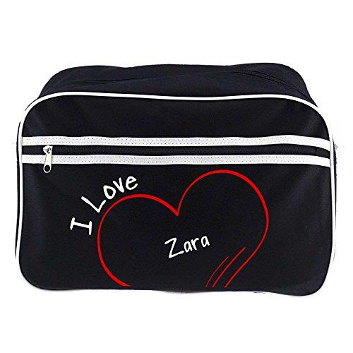 Diseño de bolso bandolera Zara I Love colour negro