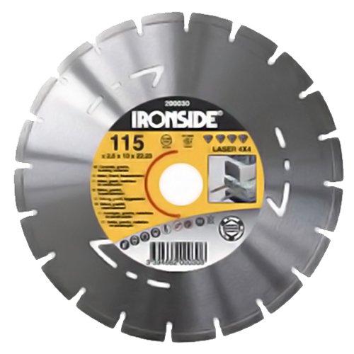 Preisvergleich Produktbild Ironside Diamant-Trennscheiben 4in1, Durchmesser 115 mm, 2,5/10 mm, 1 Stück, 200030