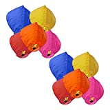 #3: Skycandle Multicolour Sky Lanterns Pack of 10