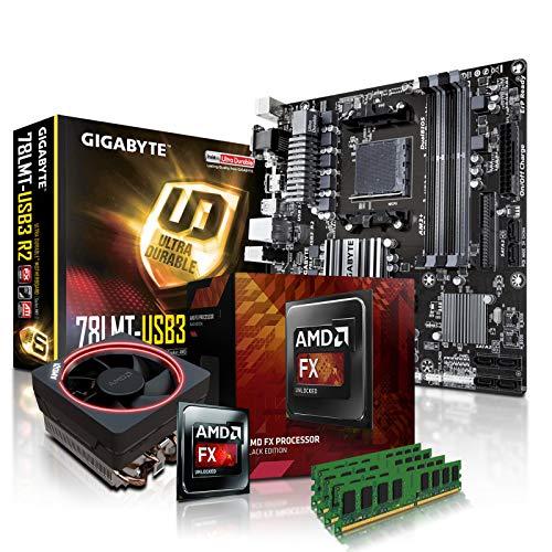 PC Aufrüstkit AMD, FX-8350 8x4.0 GHz, 32GB DDR3, Radeon HD3000-1GB, Mainboard Bundle, Tuning Kit, fertig montiert, Spiele Office (Amd-prozessor-kit)