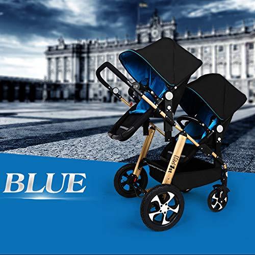 WUZHI Doppel-Kinderwagen Doppel-Kinderwagen Tandem-Kinderwagen Mit 2 Sitzeinheiten Für Neugeborene Und Kleinkinder,C