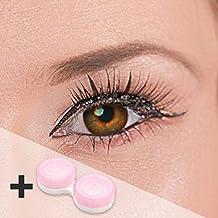 Farbige Kontaktlinsen Haselnuss braune Kontaktlinsen farbig ohne Stärke mit Kontaktlinsenbehälter