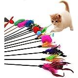 Hosaire 5 pcs/set Cat Toys Katzenspielzeug Katze Spielzeug Künstliche Feder und Glocke für Cat Haustier