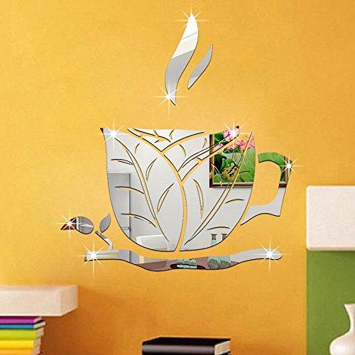 ufengker-3d-taza-de-cafe-hojas-efecto-de-espejo-pegatinas-de-pared-diseno-de-moda-etiquetas-del-arte