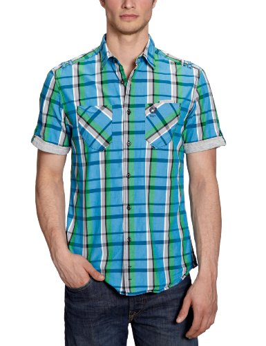Tom Tailor Denim - Casual shirt - Homme Turquoise (6307)