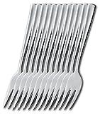 Esmeyer 204-049 12er Pack Kuchengabeln STOCKHOLM  aus Edelstahl 18/10,poliert.  Materialstärke 2.0mm
