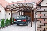 MIO-GIARDINO Carport Tunbridge Box Auto in Legno con Copertura in PVC Corrugato - Dimensioni: 345 x 560 x 234 cm