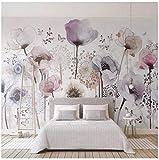 Papier peint personnalisé murale 3D aquarelle mode peint à la main fleur Floral salon fond TV Home Decor papier peint peinture