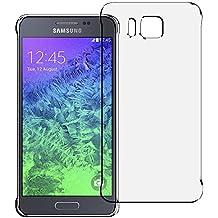Funda Para Samsung Galaxy Alpha . Funda Carcasa Transparente Protectora De NEVEQ®, Suave, Clara De TPU Cubierta Antigolpes Flexible De Calidad Superior.