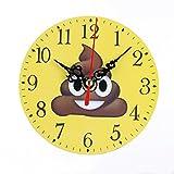 Emoji Reloj digital Pantalla grande Madera Pie de cama Decoración Pared Instalado con pilas (E)