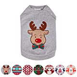 Blueberry Pet Soft & Comfy Ultimate All-weather Christmas Reindeer French Terry Pullover Crewneck Dog Sweatshirt Jacket, Back Length 16