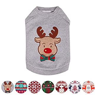 "blueberry pet soft & comfy ultimate all-weather christmas reindeer french terry pullover crewneck dog sweatshirt jacket, back length 14""/36cm, pack of 1 holiday clothes for dogs Blueberry Pet Soft & Comfy Ultimate All-weather Christmas Reindeer French Terry Pullover Crewneck Dog Sweatshirt Jacket, Back Length 14″/36cm, Pack of 1 Holiday Clothes for Dogs 51ofsxg1UdL"