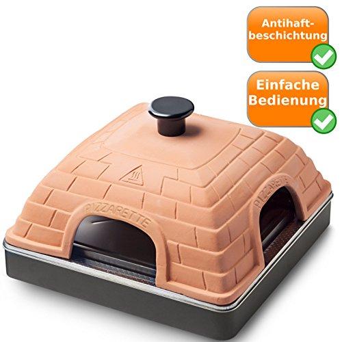 Rectangulaire Four à pizza Pizza sauve avec capot en terre cuite Emerio po 1092581000W