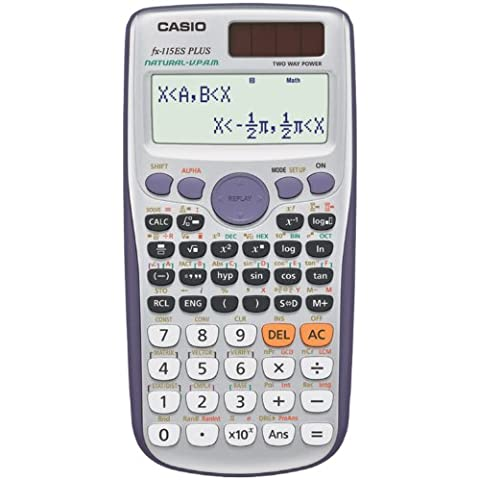 Casio FX-115ESPLUS - Calculadora (bolsillo, Batería/Solar, Scientific calculator, Púrpura, Plata, De plástico)