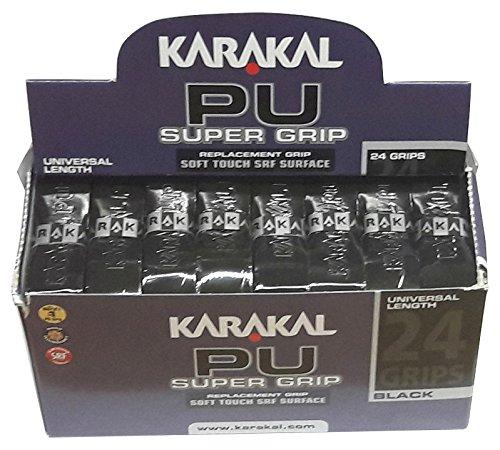 Preisvergleich Produktbild Karakal PU Super Grip schwarz Basis-Griffbänder - 24er BOX