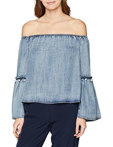 ONLY Damen Bluse Onlvilde LS Off Should DNM Blouse Boxqyt, Blau (Dark Blue Denim Dark Blue Preisvergleich