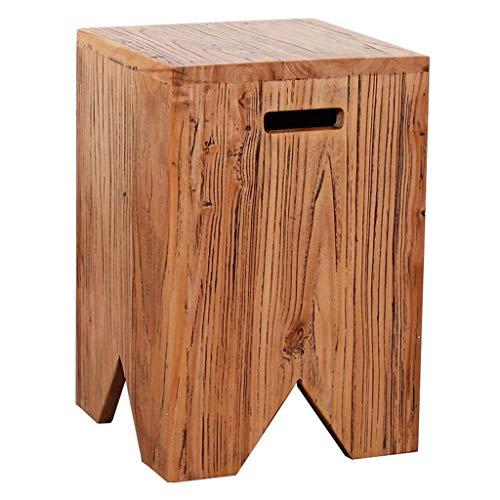 Hocker Quadrat Hocker Fußhocker Holz Gartenmöbel Wechselschuhe Hocker Korrosionsschutz Wohnzimmer Stuhl 30x30x45cm 01 -