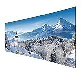 Homedeco-24 - Wandbild Leinwand, Panorama – Die Alpen im Winter 80 x 120 cm