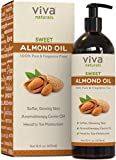 Viva Naturals Sweet Almond Oil, Hexane Free for Skin and Hair, 16 oz / 473 ml by Viva Naturals