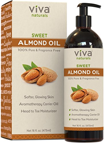 Viva Naturals Sweet Almond Oil, Hexane Free for...
