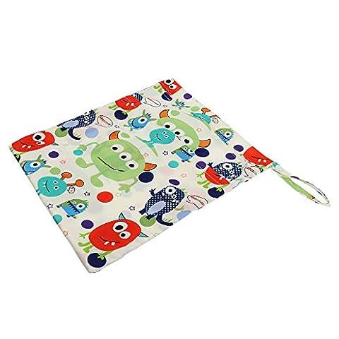 MagiDeal Baby Kleinkind Wasserdichtem Reißverschluss wiederverwendbare Stoff Windel Tasche - Stil 4