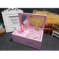 Preisvergleich für Baby-lustiges Spielzeug Rosa Dresser Rotierende Ballerina Girl Spieluhr mit Make-up Spiegel für kleine Mädchen