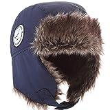 Fancy Luu Gorra de Bombardero para Niños Sombrero de Invierno Unisex Caperuza Caliente Niños Orejeras Sombrero de Felpa