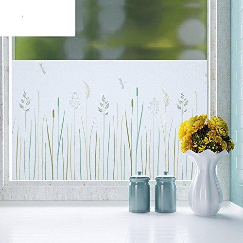 FACAI Fensterfolie Dekorfolie Sichtschutzfolie Fensterschutzfolie Selbsthaftend, Statisch Haftend Version 45*200cm