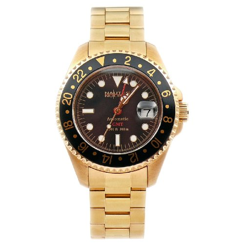 Nautec No Limit Herrenarmbanduhr Deep Sea DS GMT/GDBK