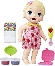 Baby Alive Super Snacks Snackin Lily Baby: Blonde Baby Doll That Eats, with Reusable Baby Alive Doll Food, Spo