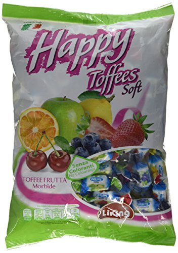 Liking Italian Sweets Soft Caramel and Fruit Toffees 1 kg