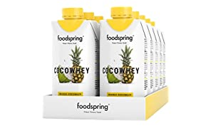 foodspring CocoWhey Pineapple, 12x330ml, Refreshing Protein-Drink with Coconut-Water, Made in Germany