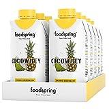 foodspring CocoWhey mit Ananas, 12x330ml, Erfrischender Protein-Drink mit Kokoswasser, Hergestellt...