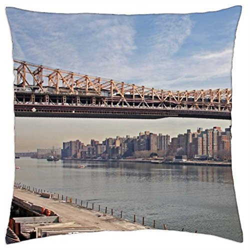 ZiJface Williamsburg Bridge, Suspension Bridge, New York - Throw Pillow Cover Case 18 X18 inch
