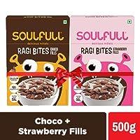 Soulfull Ragi Bites, Choco + Strawberry Fills- No Maida, High Calcium, 500g