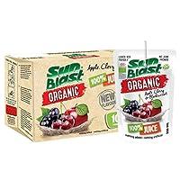 Sun Blast Organic Apple Cherry Blackcurrant Juice, 200 ml (Pack of 10)