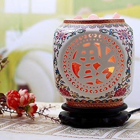 Lampe à Pétrole Jingdezhen en Céramique en Cristal Chambre D'étude