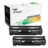 7Magic Compatible HP 85A CE285A Cartucho de Tóner (2 Negro) Para HP Laserjet Pro P1102w P1102 1102...