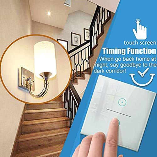 Queta WIFI Smart Schalter Lichtschlater mit Timer-Funktion Lärmkontrolle, Touchscreen-Schalter, arbeitet mit Amazon Alexa
