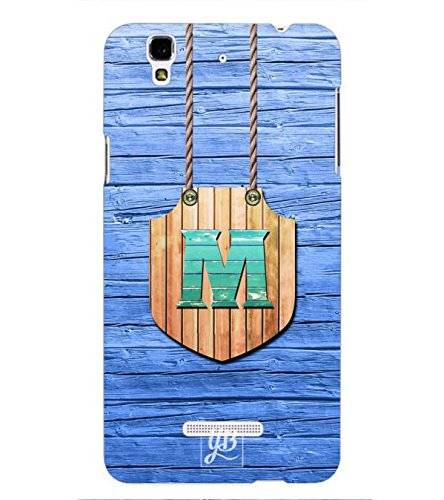 YuBingo Designer Printed Plastic Mobile Back Case Cover Panel for Yu Yureka Plus ( Majestic Letter M (Wood Finish Plastic) )