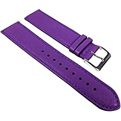 Miami Replacement Band Watch Band kalf nappa Strap purple 22599S, width:19mm