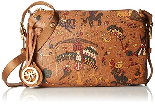 Piero Guidi Magic Circus Vintage Borsa a Tracolla, 24 cm, Cannella
