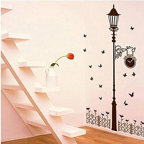 Sogno fuori casa Decor recinzione streetlights rimovibile in vinile adesivi da parete per la camera - Bed Kennel