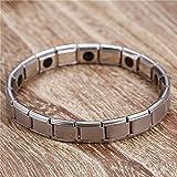Titan Magnettherapie Armband für Unisex mit Klappschließe Turmalin Energiebilanz Armband Für Frauen Edelstahl Magnetische Armbänder & Armreifen