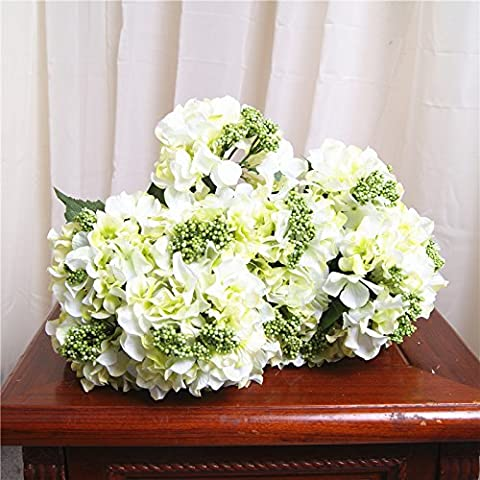 GWZ,Simulación de solo toros acabado flor artificial flor arreglos florales Berry Hortensia Ramos de flores de flores de plástico y flores LINXIANBISHUIYIYUAN