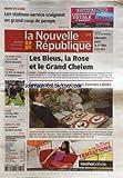 NOUVELLE REPUBLIQUE (LA) [No 19882] du 20/03/2010 - LES STATIONS-SERVICE CRAIGNENT UN GRAND COUP DE POMPE -LES BLEUS - LA ROSE ET LE GRAND CHELEM / RUGBY -GASTRONOMIE / LA TOURAINE DES BONNES TABLES -VILLAINES-LES-R / L'ECO-ECOLE D'ERIK ORSENNA -LA FNAC FETE SES 20 ANS -LE COMPTEUR DU FUTUR EN TEST