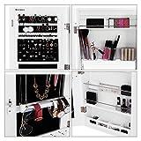 Songmics-Espejo-joyero-Armario-colgante-Organizador-para-bisuteras-Funcional-Blanco-JBC63W