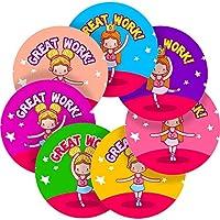 Graphic Flavour Little Ballerina Reward Sticker Labels, Children, Parents, Teachers