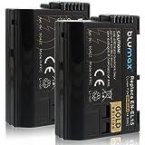 Blumax 2X Gold Edition EN-EL15 Akku kompatibel mit D7000 D7100 D7200 D500 D600 D610 D750 D800 D810 Nikon 1 V1 2040mAh 7,0V 14,3Whmehr Leistung als Originalakku