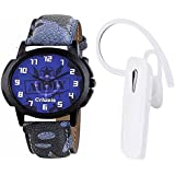 Crazeis Bluetooth Handset And Watch Combo Compatible For Oppo, Vivo, Smasung, Motorola, Xiaomi, Mi, LG, Huawei, Gionee, ASUS, Panasonic, Micromax, And Many More. Bluetooth Headset With Mic (White, In The Ear)CRWT-MD22-BT-WH